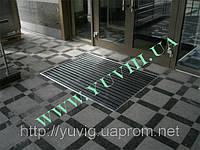 Придверная решетка, «Лен» резина+щетка 600х400мм. с внутренним обрамлением