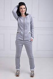 Спортивный костюм светло-серый трехнитка S L XL