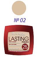 Rimmel - Пудра Компактная стойкая 25h - Lasting Finish - №02