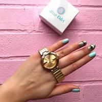 Женские модные позолоченные  часы