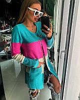 Женский модный цветной кардиган в полоску (2 цвета), фото 1