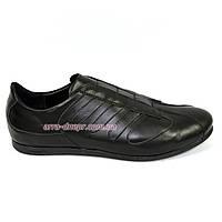 """Мужские кроссовки из натуральной кожи черного цвета от производителя ТМ """"Maestro"""""""