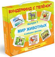 Подарочный набор Вундеркинд с пеленок Выпуск 1 Мир животных на русском языке, карточки Домана
