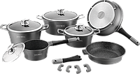 Комплект посуды с антипригарным, антибактериальным гранитным покрытием ROYALTY LINE Switzerland