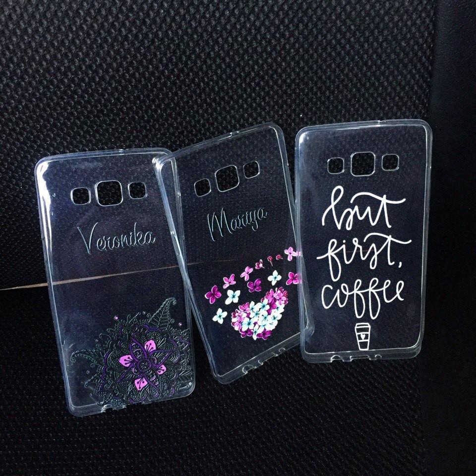 Чехлы для Samsung Galaxy J7 2015 (J700h) силиконовые с надписью