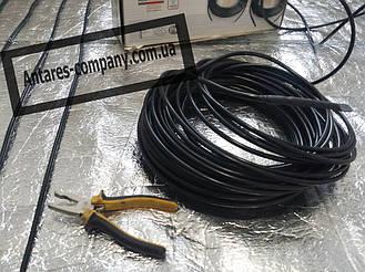 Технические характеристики нагревательного кабеля HEMSTEDT BR-IM:  •тип кабеля:двужильный экранированный •номинальное напряжение:~230 В •удельная мощность:16,26 Вт/м при 220 В, 17 Вт/м при 230 В •диаметр:8,4 мм. •мин. радиус изгиба:5