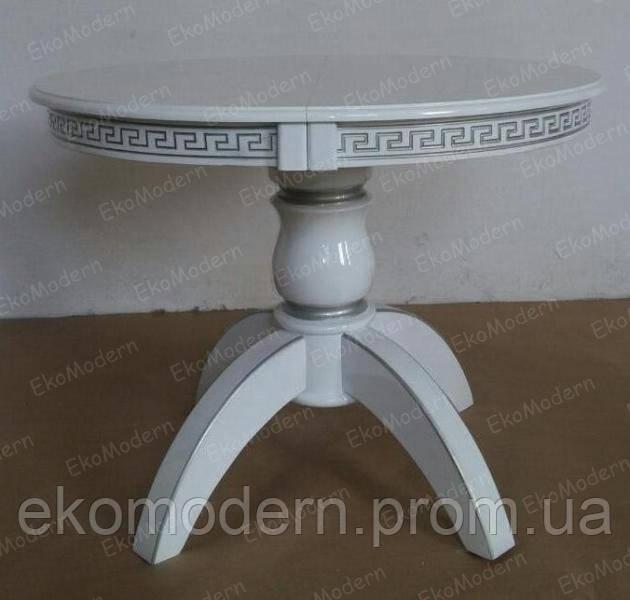 Стол обеденный ЛЕО Премиум+ белый или в цвете слоновой кости для гостиной дома, кафе и ресторана