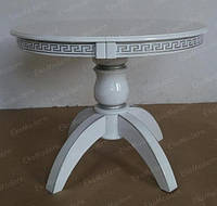 Стол обеденный ЛЕО Плюс+ белый или в цвете слоновой кости для гостиной дома, кафе и ресторана