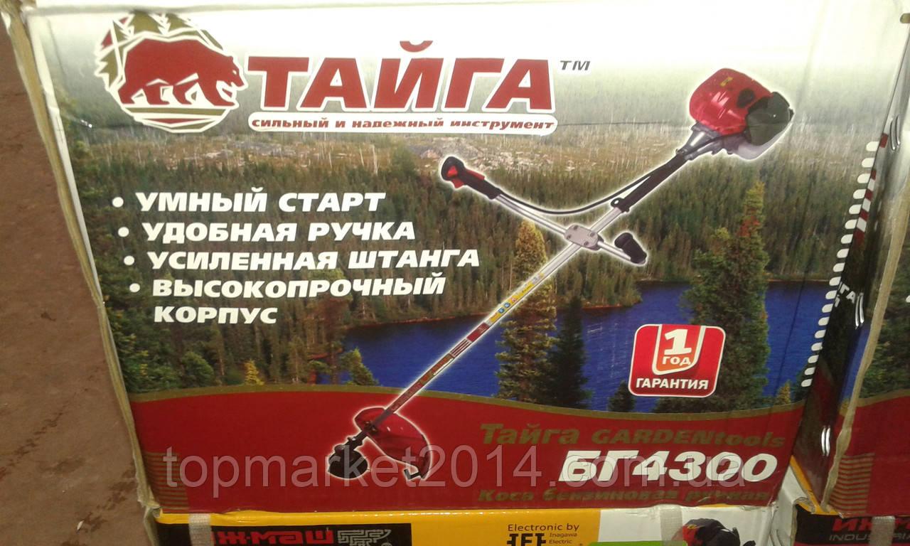 Бензокоса Тайга БГ-4300 ( 2 ножа+1катушка( 40Тпобедит., 3Т)