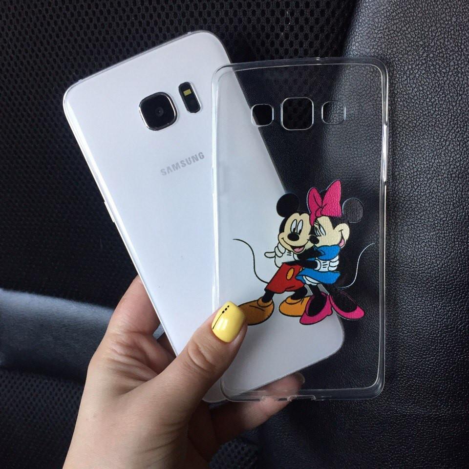 Чехол силиконовый с Микки для Samsung Galaxy J7 2015 (J700h)