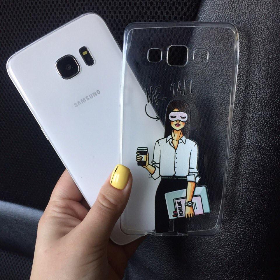 Чехол силиконовый с картинкой для Samsung Galaxy J7 2015 (J700h)