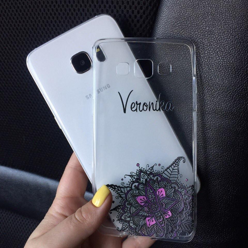 Чехол силиконовый с именем для Samsung Galaxy J7 2015 (J700h)
