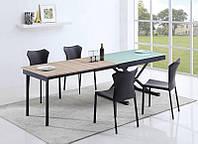 Раскладной стеклянный обеденный стол Maestro (Halmar)