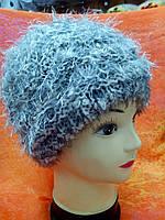 Меланжевая женская шапка, цвет серый, фото 1