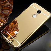 Чехол для Xiaomi Redmi Note 4 зеркальный золотистый 420985186152e
