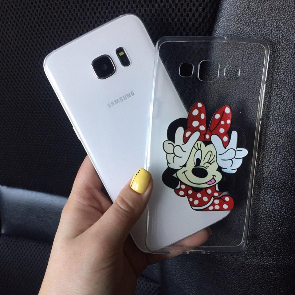 Чехол силиконовый с Минни картинкой для Samsung Galaxy J7 2015 (J700h)