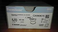 Премилен Premilene, полипропилен 5/0, 19 мм, обратно-режущая Microtip игла 3/8 окружности, 45 см