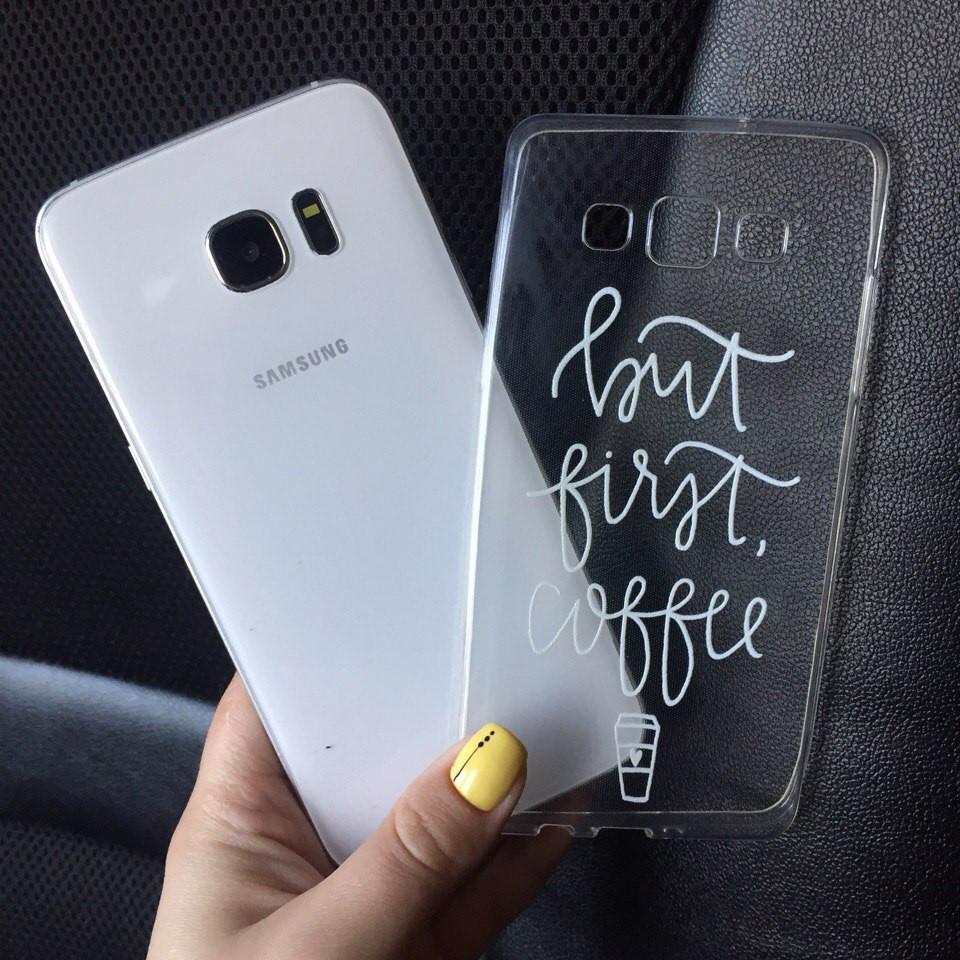 Чехол силиконовый с надписью для Samsung Galaxy J7 2015 (J700h)