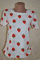 Женская стильная  футболка с фруктами