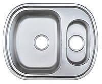 Platinum Кухонная стальная мойка Platinum 63 x 49D матовая