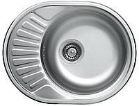 Platinum Кухонная стальная мойка Platinum 57 х 45 матовая