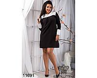 Женское батальное платье ОкА065