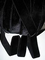 Резинка бархатная черная 23мм ширина