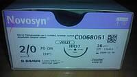 Новосин Novosyn, Полигликолиевая кислота 2/0, 37 мм, колющая игла, 1/2 окружности, 70 см