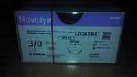 Новосин Novosyn, Полигликолиевая кислота 3/0, 26 мм, колющая игла, 1/2 окружности, 70 см