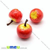 Яблоко, 22х26 мм, Желто-красное, 1 шт (DIF-019869)