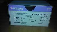 Новосин Novosyn,3/0 - 24мм/CUTTING - 70см  4/0 - 20мм/TAPER - 70см  B.Braun - AESCULAP (Германия/Испания)