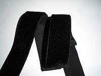 Бархатная лента черная, 22мм ширина