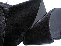 Бархатная лента черная 70мм ширина
