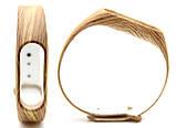 Силиконовый ремешок Primo для фитнес-браслета Xiaomi Mi Band 2 - Wood, фото 3
