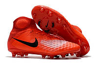 Футбольные бутсы Nike Magista Obra II FG Bright Crimson/Total Orange/Black