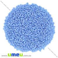 Бисер мелкий, 12/0, Голубой перламутровый, 2 мм, 25 г. (BIS-019527)