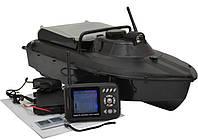 Кораблик для рыбалки Jabo-2BL с встроенным эхолотом