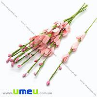 Ветка ивы из фоамирана, 20,5 см, Розовая светлая, 1 шт (DIF-019861)