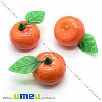 Мандарин большой, 32х37 мм, Оранжевый, 1 шт (DIF-019873)