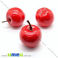 Яблоко большое, 32х35 мм, Красное, 1 шт (DIF-019871)