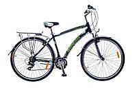 "Велосипед SKD 28"" Optimabikes HIGHWAY AM Vbr Al с багажн. черно-зелен. 2015"