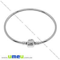 Основа для браслета PANDORA жесткая, Темное серебро, 22,5 cм, 1 шт (OSN-004802)