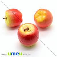 Яблоко большое, 31х33 мм, Желто-красное, 1 шт (DIF-019870)