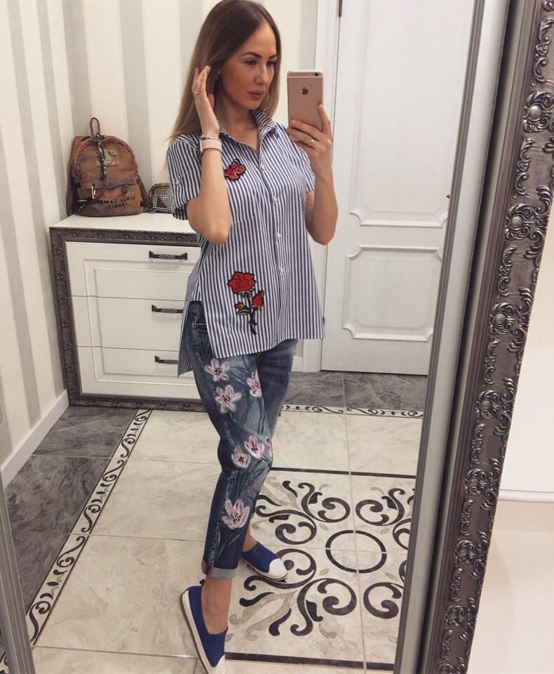 Рубашка женская с вышивкой