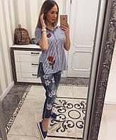 Рубашка женская с вышивкой, фото 1