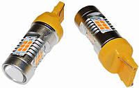 Светодиодные лампы LED/линза WY21W (21-SMD)(12V)(3535)(Желтый), фото 1