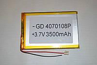 Универсальный аккумулятор (АКБ, батарея) для китайских планшетов 3.7V 3500mAh (4.0*70*108mm)