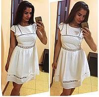Женское нарядное платье из прошвы (2 цвета)