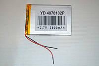 Универсальный аккумулятор (АКБ, батарея) 3.7V 3800mAh (4.0*70*102mm), фото 1