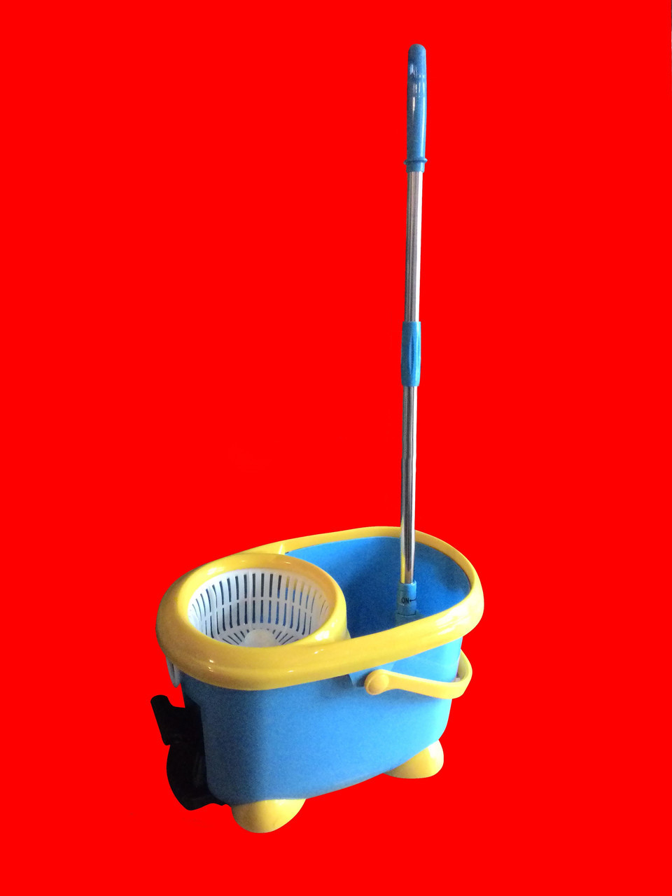 Швабра-вертушка с отжимом Easy Mop (комплект для уборки швабра + ведро Изи Моп)